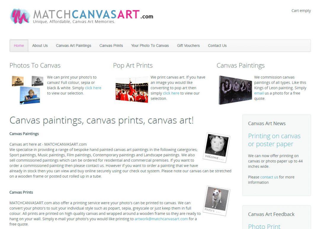 Match Canvas Art